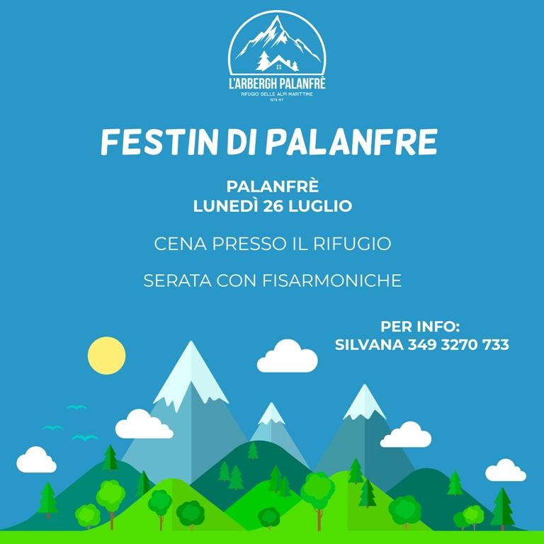 Festin di Palanfrè lunedì 26 luglio 2021